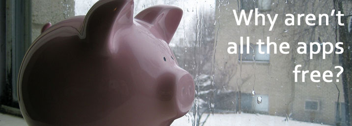 wistful piggy bank wishes all apps were free