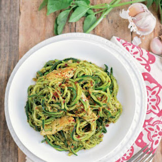 Chicken Pesto Zucchini Recipe + a Cookbook Giveaway!
