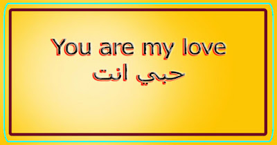 You are my love حبي انت