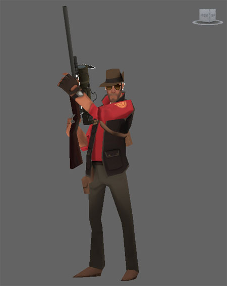 Team Fortress 2 Sniper Papercraft