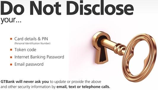 GTbank Account Security
