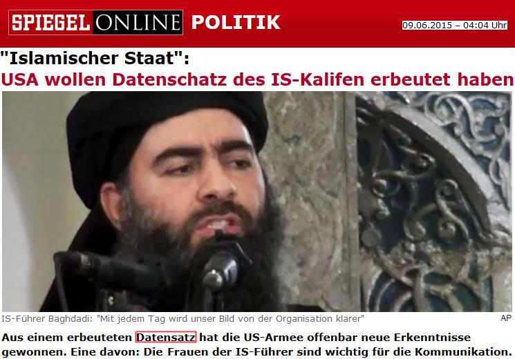 USA wollen Datenschatz des IS-Kalifen erbeutet haben