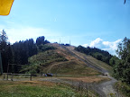 Blick von der Dreiländerhütte zum Gipfel