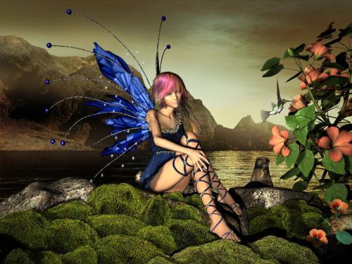 Blue Wings Small Fairy, Fairies Girls