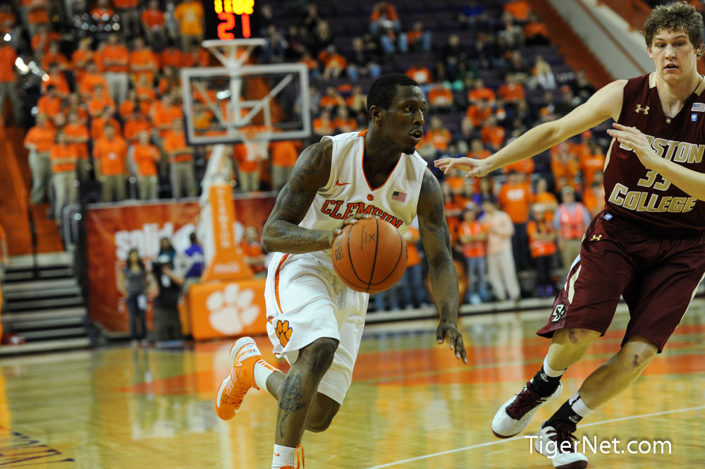 Clemson vs Boston College (Senior Night) Photos - 2013, Adonis Filer, Basketball, Boston College