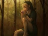 Elven Girl Drinking