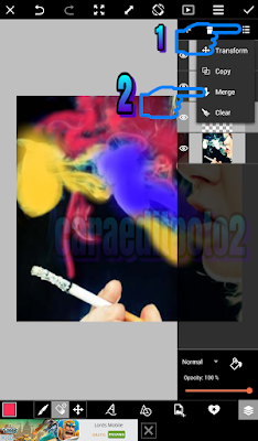 Cara Edit Foto Efek Asap R0kok Warna Warni di Android dengan PicsArt