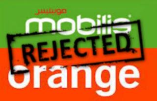 L'offre illimité d'Orange vers Mobilis c'est fini
