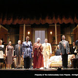 Lonnie Honsinger, Jean Carney, Stephanie G. Insogna, Richard Harte, Benita Zahn, Joanne Westervelt, Randy McConnach, Patricia Hoffman, James Dick, John Quinan and Bryant Williams in THE ROYAL FAMILY (R) - December 2011.  Property of The Schenectady Civic Players Theater Archive.