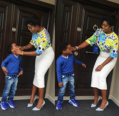 Wizkid's second baby mama Binta and her Ayo Balogun Jnr,