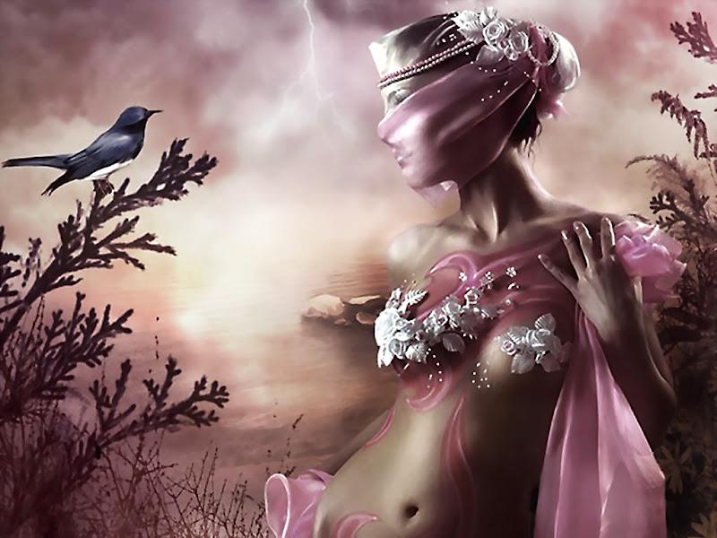 Pink Beauty And A Bird, Magic Beauties 1