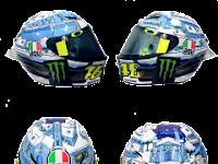 Desain Helm Valentino Rossi Test Spang