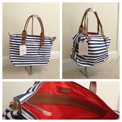 Navy White Striped With Orange Inside Lloooo Auburn And University Of Florida Fans This Bag Also Can Be A Tote Or Snaps On The Side To Turn Into
