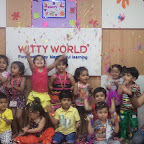 Holi Celebration at Witty World, BN by Playgroup Section C & D [ 2015-16 ]