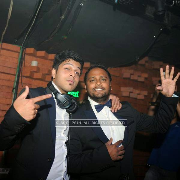 DJ Akshay and DJ Vaibhav during a DJ party in the city.