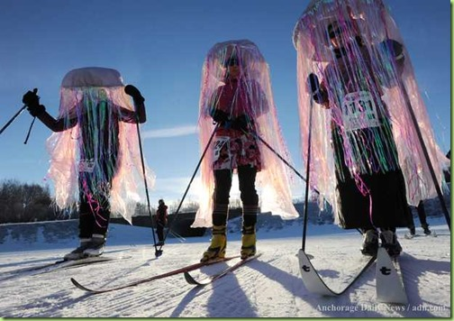 jelly fish skiers