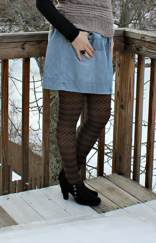 cowl-neck-sweater-denim-skirt-4