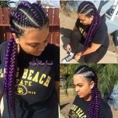 Miraculous All Hair Makeover Purple Braids Twist And Cornrow Hairstyles Hairstyles For Women Draintrainus