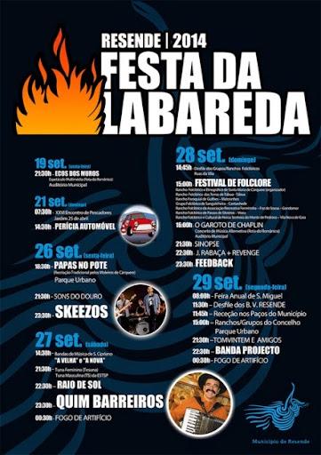 Programa da Festa da Labareda 2014 - Resende