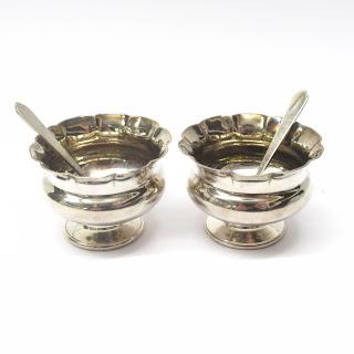 Sterling Silver Salt Cellar Pair