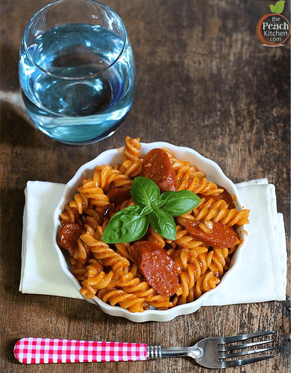Creamy Tomato Chorizo Pasta