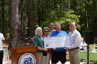 2011 Check Presentation at Mary Scott Nature Park