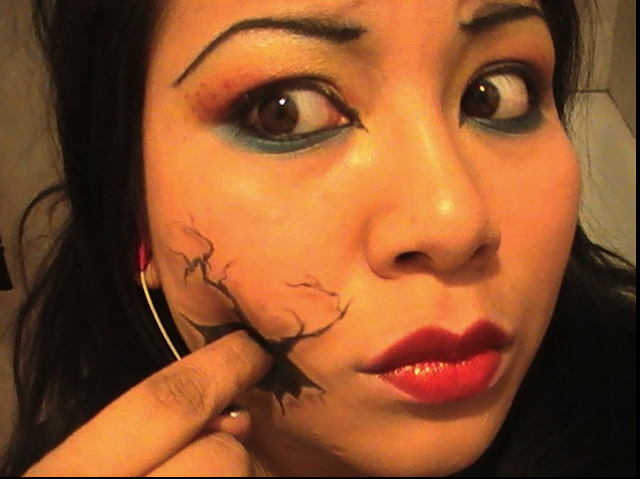Callowlilly inspired makeup; Halloween Broken Doll