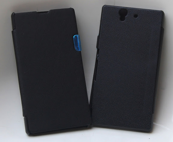 new style fb1e5 53ab3 Hard Back Flip Replacement Case Cover for Sony Xperia Z C6602/ C6603 Black
