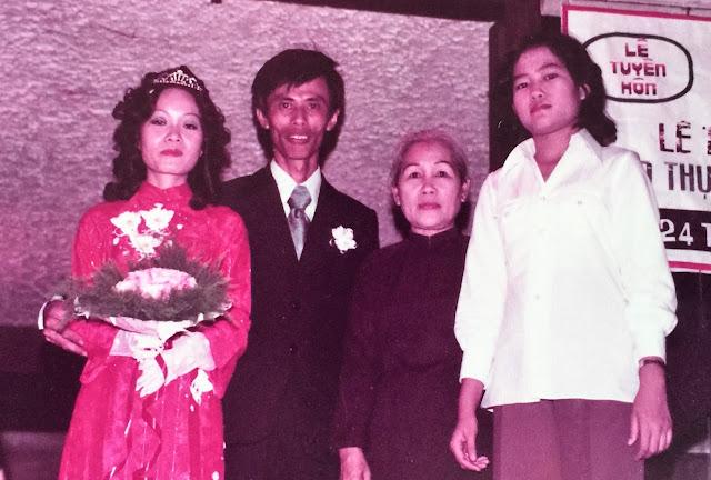Dì Hai & em gái của Nguyễn Hồng Sơn trong ngày cưới Trọng Châu