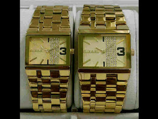 jam tangan Diesel Couple Full Gold steinless