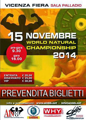 Vicenza capitale mondiale del natural body building