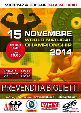 Vicenza capitale mondiale del natural body building