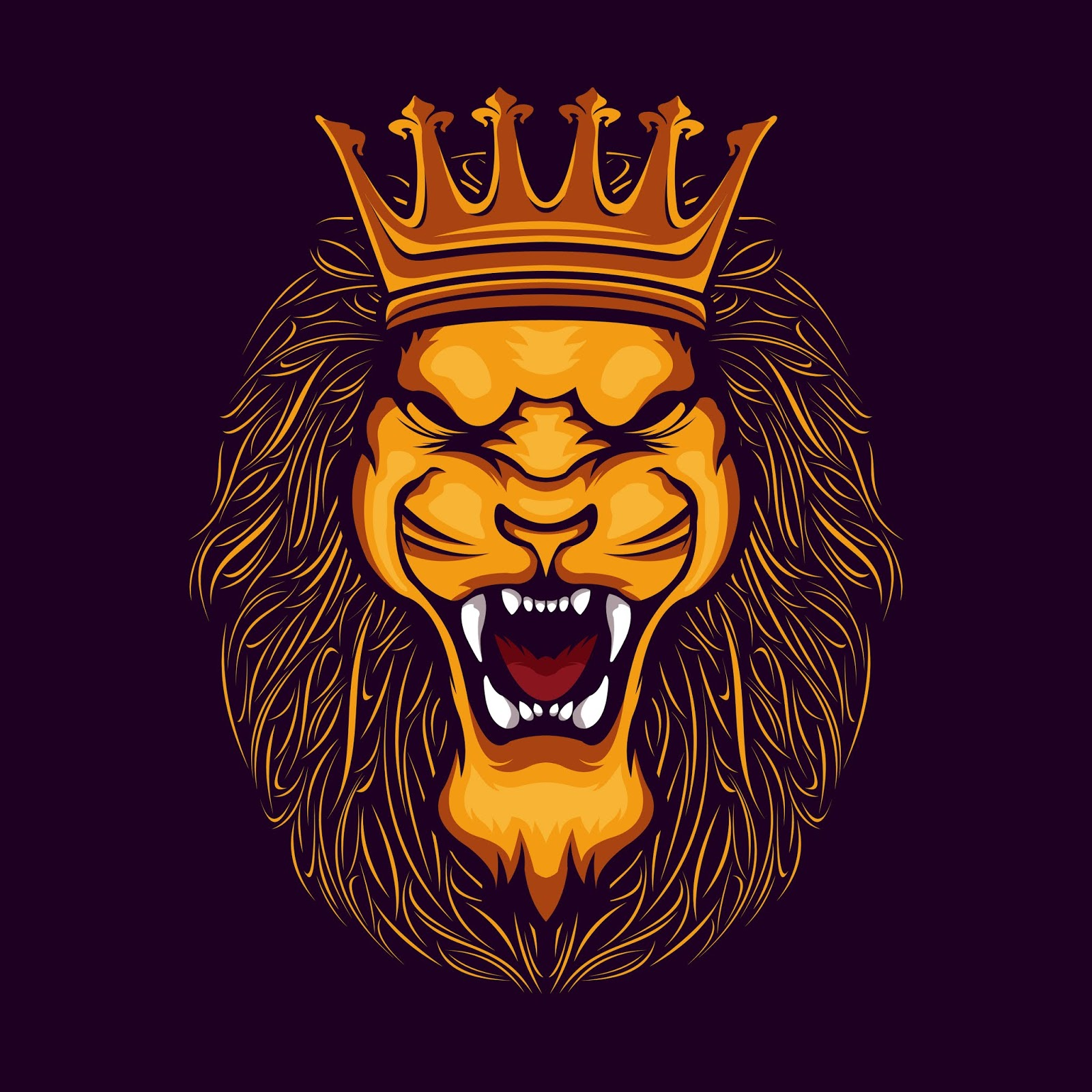 Lion Head Illustration Free Download Vector CDR, AI, EPS and PNG Formats