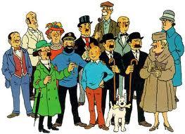 Bruselas Valonia: Tintin junto a los personajes más importantes de su serie, como Milou, el profesor Tornasol o Hernández y Fernández