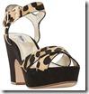 Dune leopard print platform sandals