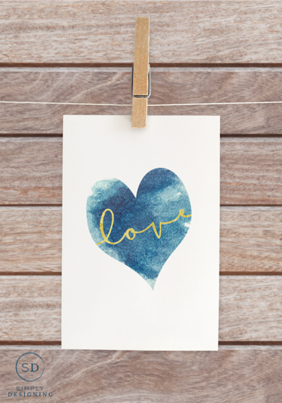 free-Blue-Heart-Love-Printable