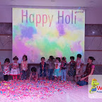 Holi Celebrated by Playgroup Morning Section at Witty World, Chikoowadi (2017-18)