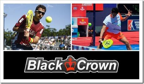 Uri Botello  y José Antonio García Diestro WPT Empuñando el modelo Free de Black Crown