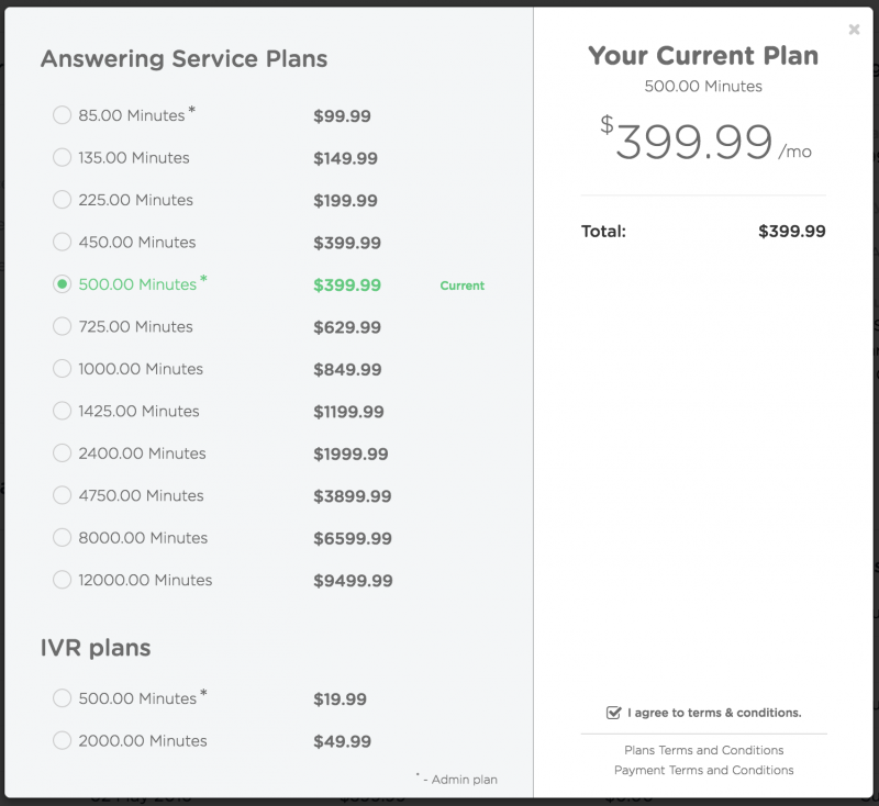 answering service plans new