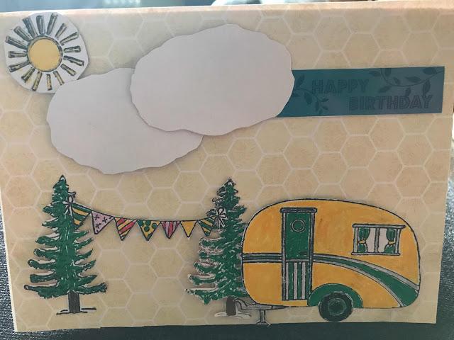 Caravan Birthday card