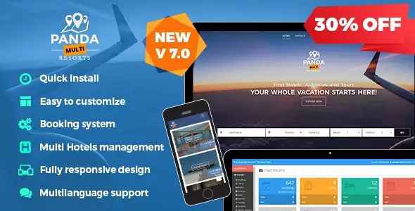 Panda Multi Resorts v7.2.0 – Booking CMS for Multi Hotels