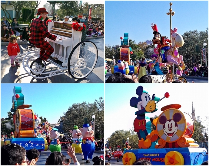 3 迪士尼聖誕村大遊行幸福在這裡夢之光大遊行