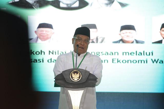 Ketum PBNU, KH. Said Siraj di Munas-Konbes PBNU, Di Lombok, (23/11/2017)