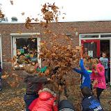Herfst op het schoolplein