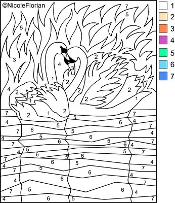 COLOR BY NUMBER * Coloring pages