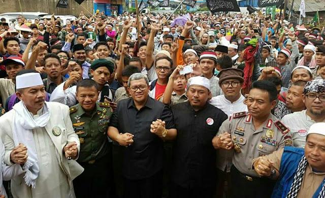Long march 212 disambut gubernur jabar kapolda pangdam