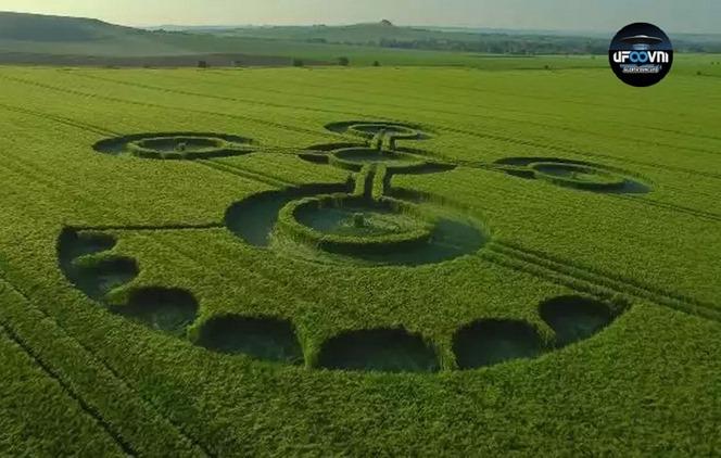 Mais um agroglifo surge em Wiltshire, na Inglaterra em 2017