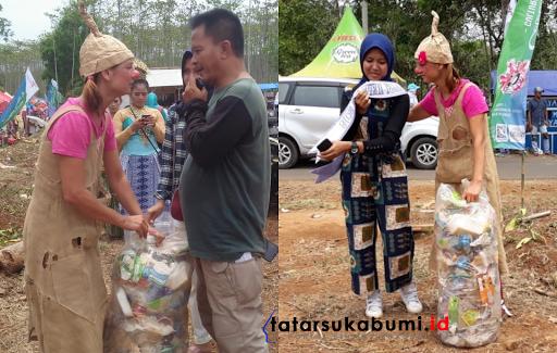 Kenal Lebih Dekat, Sandra Hemel Wanita Belgia Pemungut Sampah di Geopark Ciletuh Sukabumi