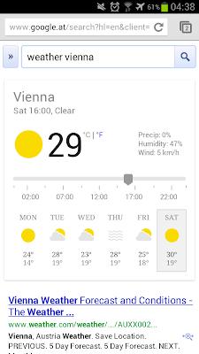 Wetter OneBox Smartphone