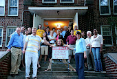 The Committee & Staff with the SOLD sign